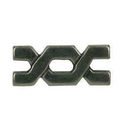 CDQ inslag bytes 29x9mm zilverkleur
