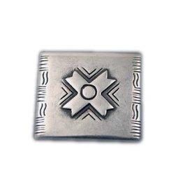 CDQ rivet X 34x30mm silver plating