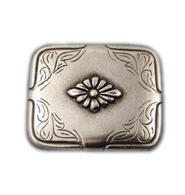 CDQ rivet flower 40x34mm silver plating