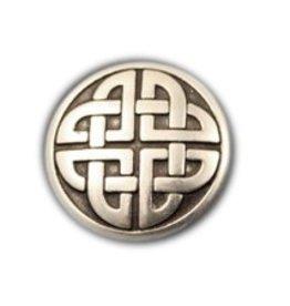 CDQ inslag round tribaLs leerschuiver 26mm zilverkleur