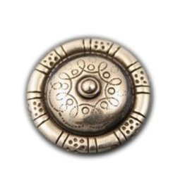 jolie inslag round nippel 30mm zilverkleur