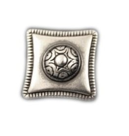 jolie rivet square 23mm silver plating