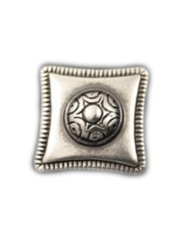 CDQ inslag square 23mm zilverkleur