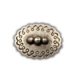 CDQ inslag oval 25mm zilverkleur