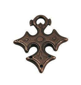 CDQ keltisch kruis brons kleur.