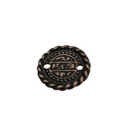 CDQ Munt klein 16mm brons kleur.