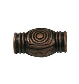 CDQ Tonnetje spiraal brons kleur.
