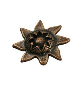 jolie kraal zon 33mm brons kleur