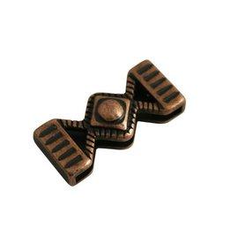 jolie Ls leerschuiver zandloper 33x14mm brons kleur.