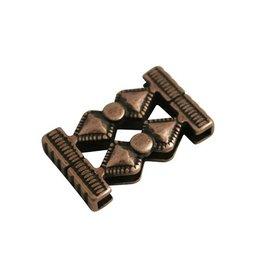 jolie kraal zandloper 33x14mm brons kleur.