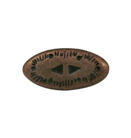 CDQ rivet western 2-delig copper plating.