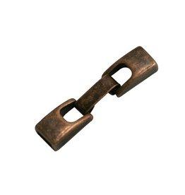 jolie Metaal sluiting 2-delig 6mm brons kleur.