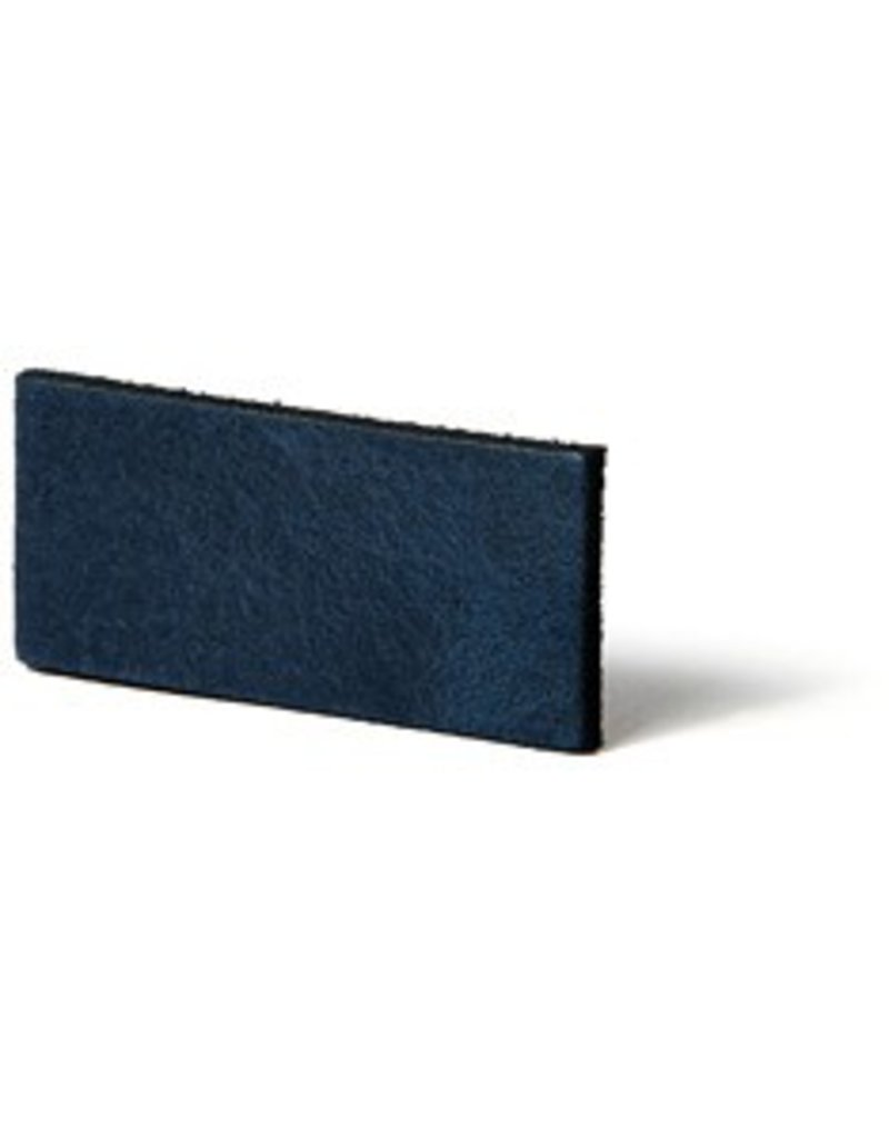 CDQ flach lederband DIY Riemen 35mm Blau 35mmx85cm
