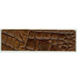 CDQ leerband croco bruin 40mmx14.5cm