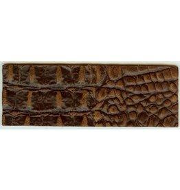 CDQ leerband croco bruin 50mmx14.5cm