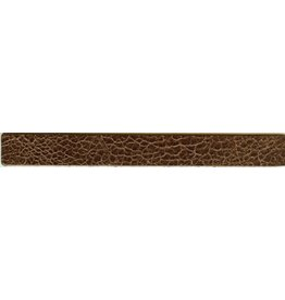 CDQ leerband bruin crackle 19mmx18cm