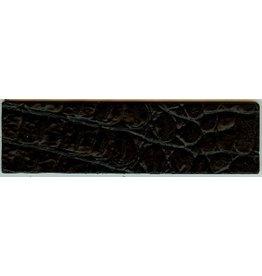 CDQ schwarz Kroko Lederarmband 50mmx14.5cm