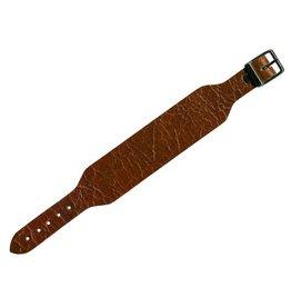 CDQ leerband gesp crack bruin 30mm