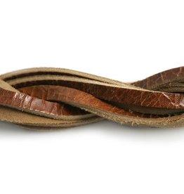 CDQ Leerstrook bruin glans 6mmx85cm