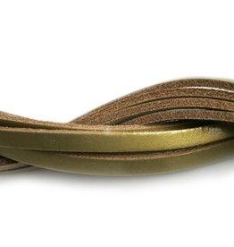 CDQ Lederstreifen gold 6mmx85cm