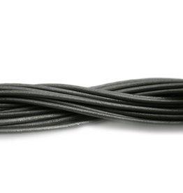 CDQ Leerveter 2mm grijs metal 1meter