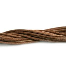 CDQ lederband  2mm natural 1 meter .
