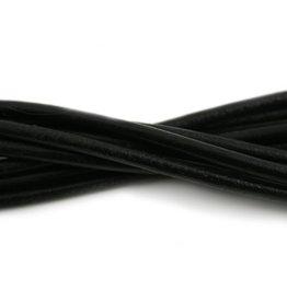 CDQ Leerveter 4mm zwart 100cm