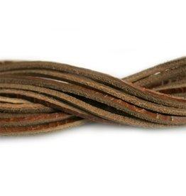CDQ Leerveter vierkant 2mmx85cm crack bruin