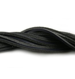 CDQ lederband  square 2mmx85cm dark blue
