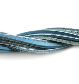 CDQ lederband  square 2mmx85cm dark turq