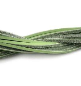 CDQ Leerveter vierkant 2mmx85cm L.groen