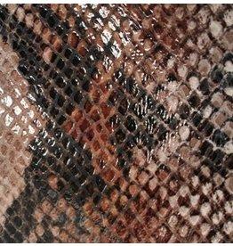 CDQ Plat leder Mocca reptiel-snake 13mmx85cm