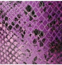 CDQ Plat leder Purple reptiel-snake 13mmx85cm