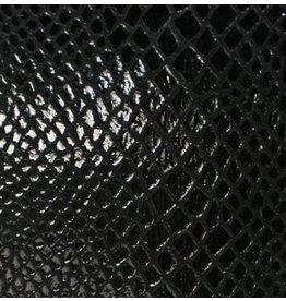 CDQ leather wristband strip black reptiel-snake 13mmx85cm