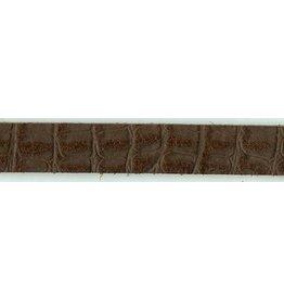 CDQ Lederarmband 13mm Streifen Drache Brown 13mmx85cm