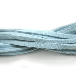 CDQ suede like cord l.turq. 1.10 mtr