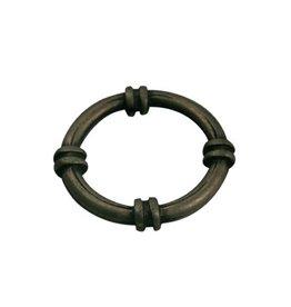 CDQ boot ring metaal rond 23mm antiek goud