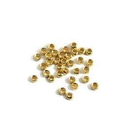 CDQ Quetschperlen nr. 2 Goldfarbeonker  2.4mm