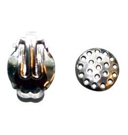 CDQ Zeef oor clip 12mm zilverkleur p. 20 stuks