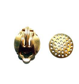 CDQ Zeef oor clip 15mm goudkleur p. 20 stuks