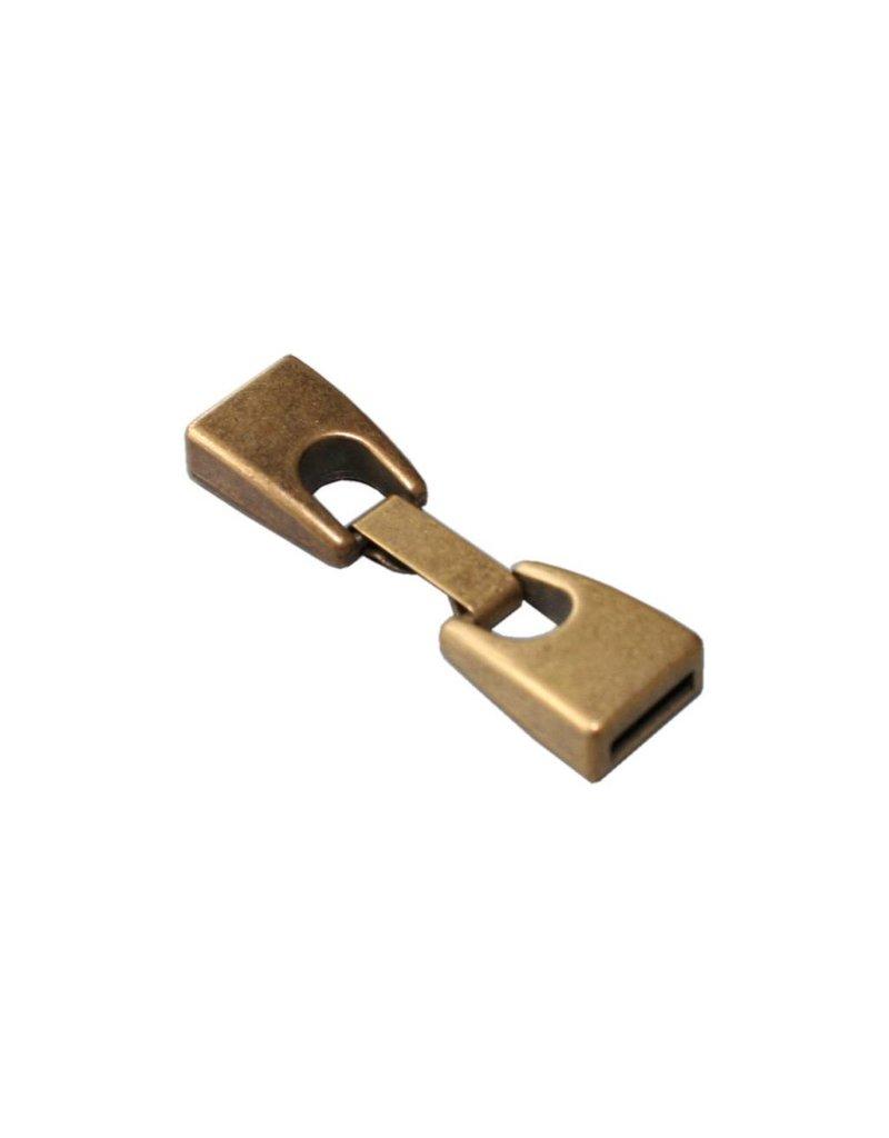 CDQ sluiting 2-delig 10mm oud goud per 10 stuks