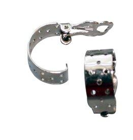 CDQ Zeef oor clip halfrond 17mm zilverkleur p. 20 stuks