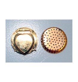 CDQ Dehnungs Schal clip 35mm Gold Farbe 5 St