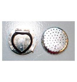 CDQ Zeef sjaal clip 35mm zilverkleur per 5 stuks