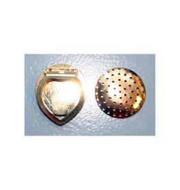 CDQ Zeef sjaal clip 28mm goudkleur per 5 stuks