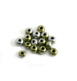 CDQ Czech glass bead gold-silver