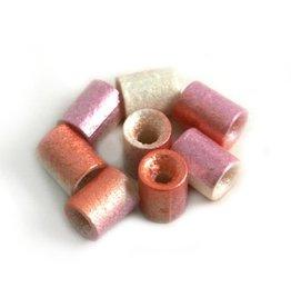 CDQ Tschechische Glasperlen rohr tube perle Pastellfarben lila metallic