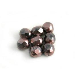 CDQ Czech glass bead lilac metallic coating
