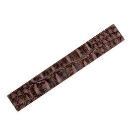 CDQ Lederband 29mm breit 19cm Länge gerade braun Krokoprint