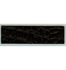 CDQ Lederband Kroko matt schwarz 40mmx14.5cm